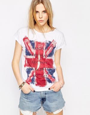 Майка с принтом британского флага Fearless Pepe Jeans