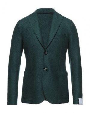 Пиджак PAOLO PECORA. Цвет: изумрудно-зеленый