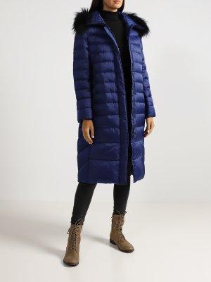Удлиненная куртка Basler. Цвет: siniy