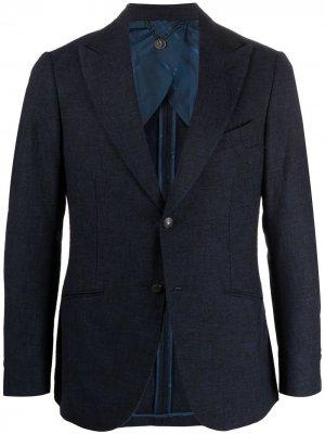 Однобортный пиджак строгого кроя Maurizio Miri. Цвет: синий