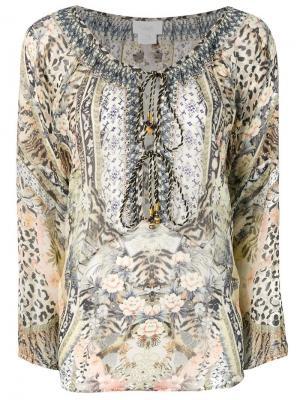 Блузка свободного кроя с принтом Camilla