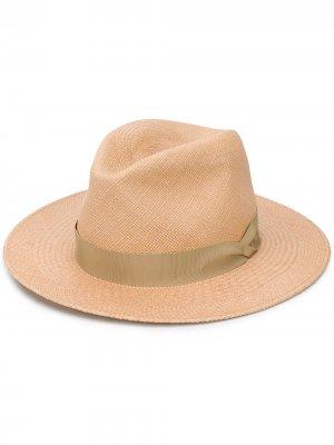 Плетеная шляпа Panama Rag & Bone. Цвет: нейтральные цвета