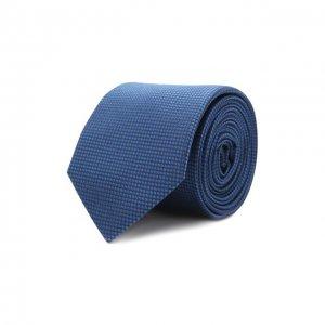 Шелковый галстук HUGO. Цвет: синий