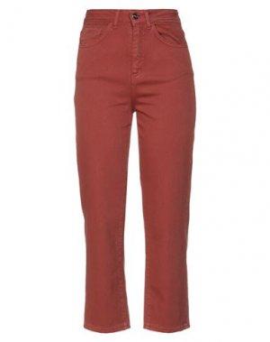 Повседневные брюки H2O ITALIA. Цвет: ржаво-коричневый