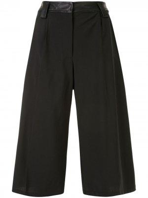 Длинные шорты с кожаным поясом Christopher Esber. Цвет: черный