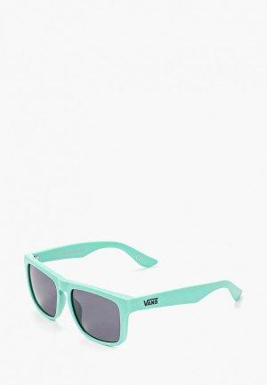 Очки солнцезащитные Vans. Цвет: бирюзовый