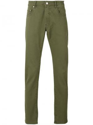 Классические брюки-чинос Pt05. Цвет: зеленый