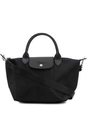 Сумка-шопер Le Pliage Longchamp. Цвет: черный