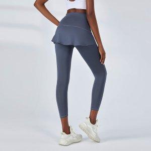 Одноцветный Спортивные юбки и шорты SHEIN. Цвет: пыльно-синий