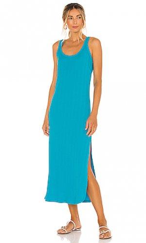 Платье миди west vitamin A. Цвет: синий