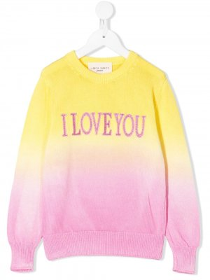 Джемпер I Love You Alberta Ferretti Kids. Цвет: желтый