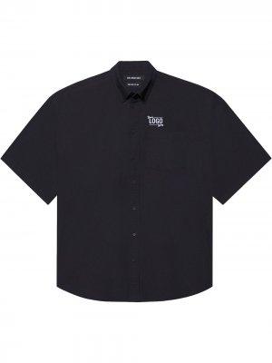 Рубашка One Size Your Logo Here с короткими рукавами Balenciaga. Цвет: черный