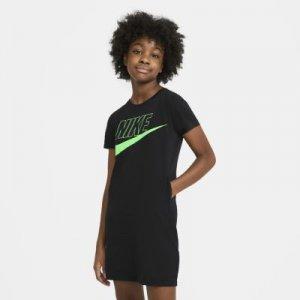 Платье-футболка для девочек школьного возраста Sportswear - Черный Nike