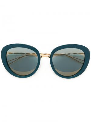 Солнцезащитные очки в объемной оправе Elie Saab