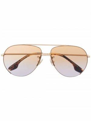 Солнцезащитные очки-авиаторы VB213S Victoria Beckham. Цвет: золотистый
