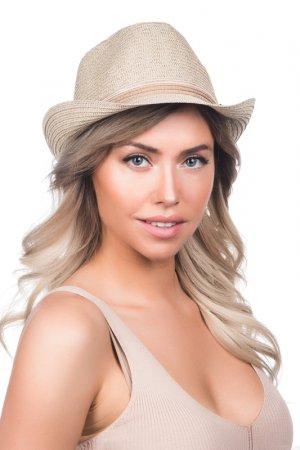 Шляпа Tonak. Цвет: соломенный