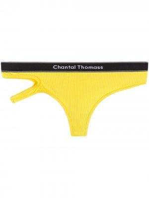 Трусы-брифы Honore с логотипом Chantal Thomass. Цвет: желтый