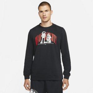 Мужской свитшот с графикой для тренинга Dri-FIT - Черный Nike
