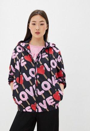 Ветровка Love Moschino. Цвет: черный