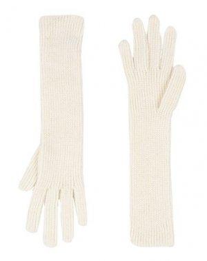 Перчатки COSTUME NATIONAL. Цвет: слоновая кость