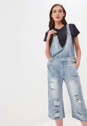 Комбинезон джинсовый Katomi. Цвет: голубой