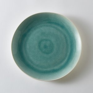 Комплект из 4 неглубоких тарелок LaRedoute. Цвет: бежевый