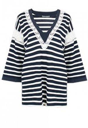 Пуловер ALBERTA FERRETTI. Цвет: синий