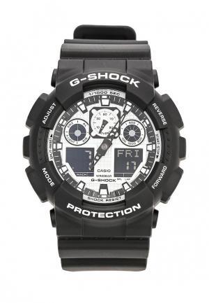 Часы Casio G-SHOCK GA-100BW-1A. Цвет: черный