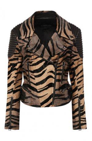 Кожаная куртка Tom Ford. Цвет: разноцветный