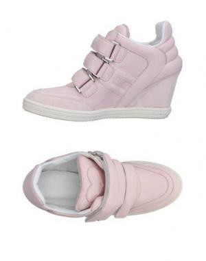 Низкие кеды и кроссовки KATIE GRAND LOVES HOGAN. Цвет: светло-розовый