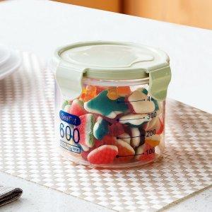 1шт 600ml герметичный контейнер для пищевых продуктов SHEIN. Цвет: зелёный