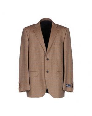 Пиджак AQUASCUTUM. Цвет: коричневый