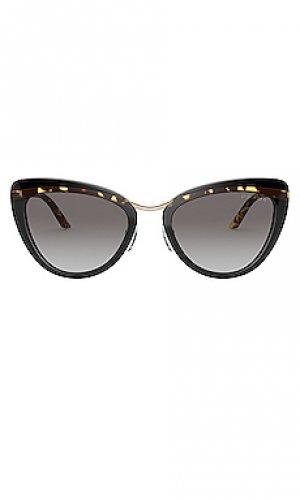 Солнцезащитные очки catwalk cinema evolution Prada. Цвет: brown,grey