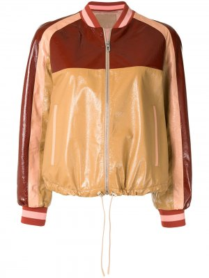 Куртка-бомбер в стиле колор-блок Drome. Цвет: разноцветный