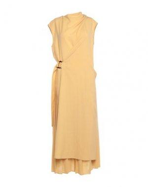 Длинное платье ALYSI. Цвет: желтый