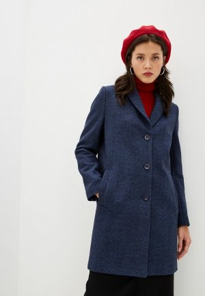 Пальто Terekhov Girl. Цвет: синий