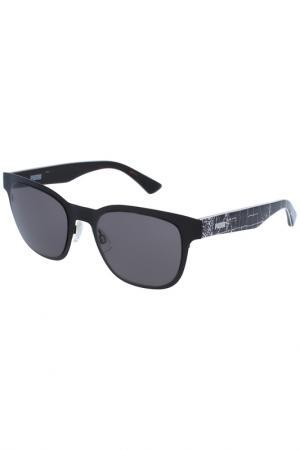 Солнцезащитные очки Puma. Цвет: черный