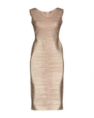 Короткое платье HERVÉ LÉGER. Цвет: розовый