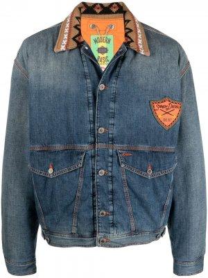 Утепленная джинсовая куртка DxD Diesel. Цвет: синий