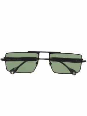 Солнцезащитные очки Eastern в квадратной оправе Etudes. Цвет: черный