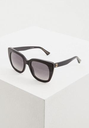 Очки солнцезащитные Gucci GG0163S006. Цвет: черный