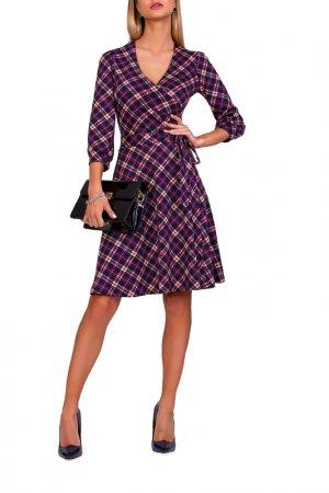 Платье FABIEN DE FERANTE. Цвет: темно-синий, пурпурный, бежевы