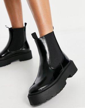 Черные ботинки челси на толстой подошве Aaliyah-Черный цвет Schuh
