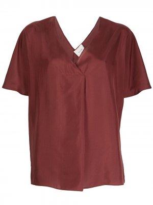Блузка с короткими рукавами Alysi. Цвет: коричневый