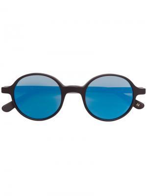 Солнцезащитные очки в круглой оправе L.G.R. Цвет: черный