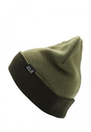 Шапка Jack Wolfskin RIB HAT. Цвет: хаки