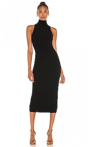 Платье миди sarah A.L.C.. Цвет: черный