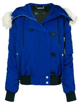 Куртка-бомбер с капюшоном Givenchy. Цвет: синий