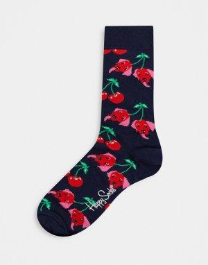 Носки с вишнями -Мульти Happy Socks