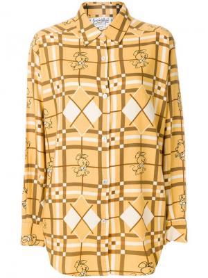 Рубашка с принтом JC de Castelbajac Pre-Owned. Цвет: коричневый